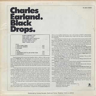 Charles Earland / Black Drops back