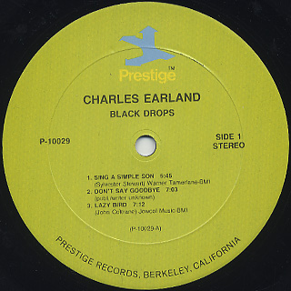 Charles Earland / Black Drops label