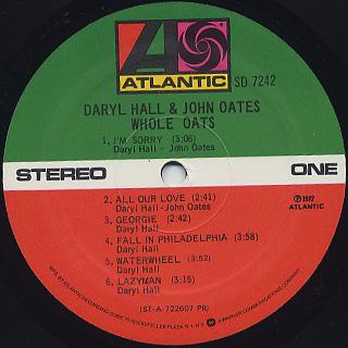 Daryl Hall & John Oates / Whole Oats label