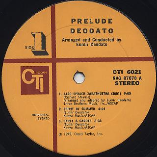 Deodato / Prelude label