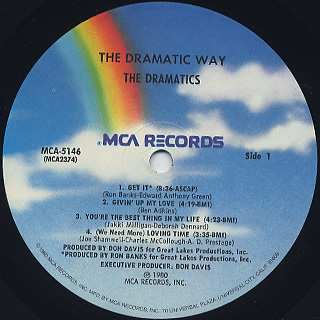 Dramatics / The Dramatic Way label