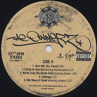 Gang Starr / The Ownerz label