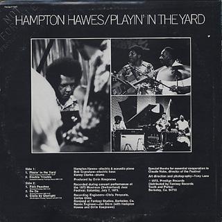 Hampton Hawes / Playin' In The Yard back