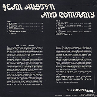 Jean Austin And Company / S.T. back