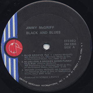 Jimmy McGriff / Black And Blues label