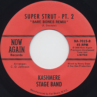 Kashmere Stage Band / Super Strut back