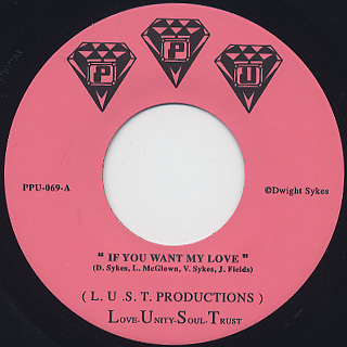 L.U.S.T. Productions / If You Want My Love
