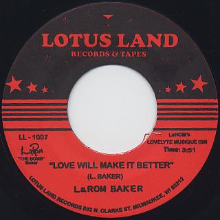 LaRom Baker / You're The Best back