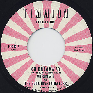 Myron And E with The Soul Investigators / On Broadway label