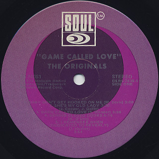 Originals / Game Called Love label