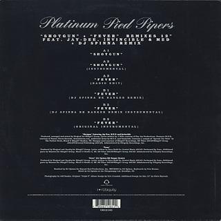 Platinum Pied Pipers / Shotgun back