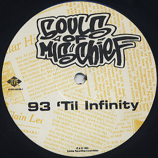 Souls Of Mischief / 93 'Til Infinity label