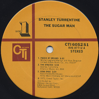 Stanley Turrentine / The Sugar Man label
