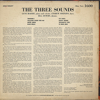 Three Sounds / The Three Sounds back