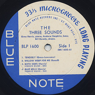 Three Sounds / The Three Sounds label