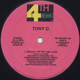 Tony D. / Check The Elevation label