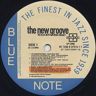 V.A. / The New Groove (The Blue Note Remix Project Volume 1) label
