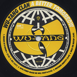 Wu-Tang Clan / A Better Tomorrow label
