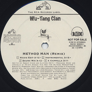 Wu-Tang Clan / Da Mystery Of Chessboxin' label