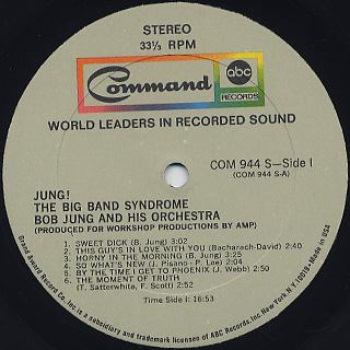 Bob Jung And His Orchestra / Jung! Big Band Syndrome label