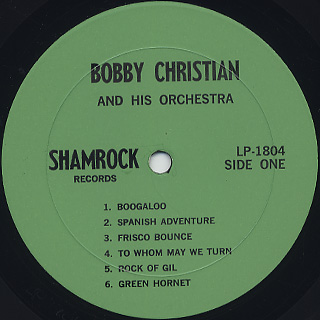 Bobby Christian And His Orchestra / Direct-To-Tape label