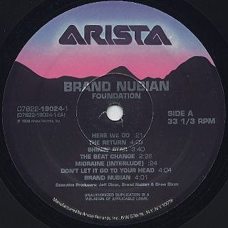 Brand Nubian / Foundation label