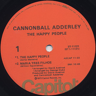 Cannonball Adderley Quintet / The Happy People label