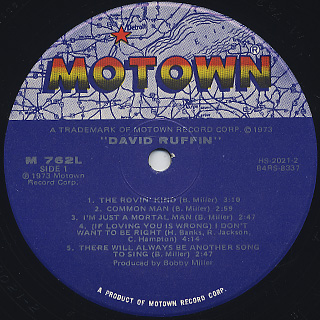 David Ruffin / S.T. label