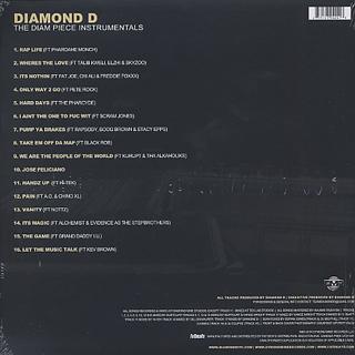 Diamond D / The Diam Piece Instrumentals back