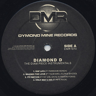 Diamond D / The Diam Piece Instrumentals label