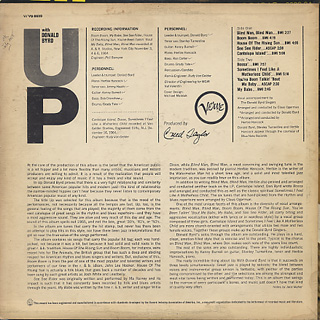Donald Byrd / Up With back