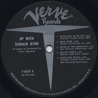 Donald Byrd / Up With label