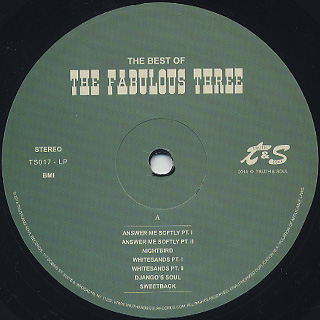 Fabulous Three / The Best Of The Fabulous Three label