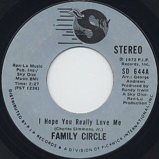 Family Circle / I Hope You Really Love Me front