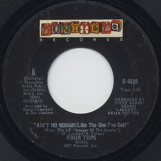 Four Tops / Ain't No Woman (Like The One I've Got) front