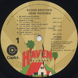 Gene Redding / Blood Brother label
