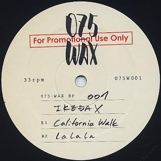 Ikeda X / 075 WAX EP back