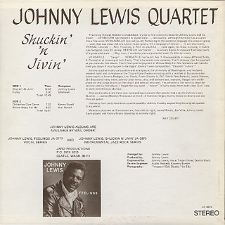 Johnny Lewis Quartet / Shuckin' 'N Jivin' back