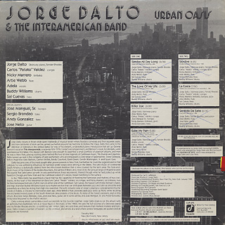Jorge Dalto & The Interamerican Band / Urban Oasis back