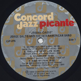 Jorge Dalto & The Interamerican Band / Urban Oasis label