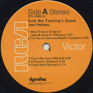 Jose Feliciano / And The Feeling's Good label