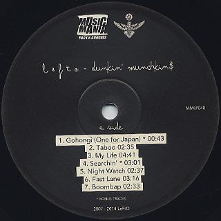 LeFtO / Dunkin' Munchkin$ label