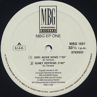MBG / EP One back