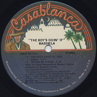 Masekela / The Boy's Doin' It label