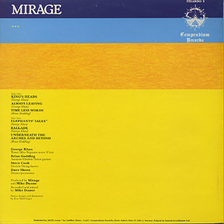 Mirage / Now You See It... back