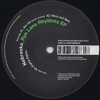 Nebraska / Rye Lane Rhythms EP label