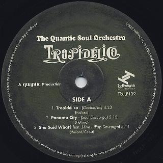 Quantic Soul Orchestra / Tropidelico label