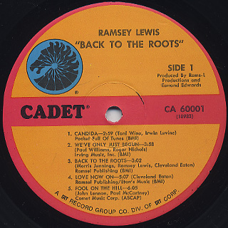 Ramsey Lewis / Back To The Roots label