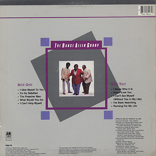 Rance Allen Group / I Give Myself To You back