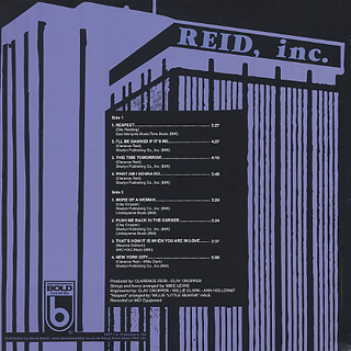Reid, inc. / S.T. back